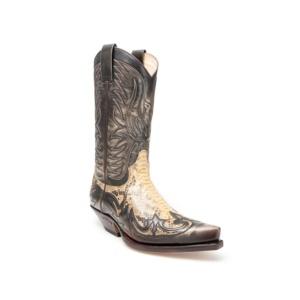 Compra en Noel Western Boots estas Botas Sendra Western para hombre cuero denver y serpiente grabados 3241 con envíos gratis a la península 13128