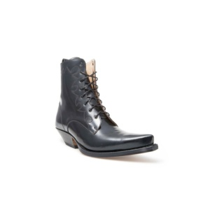 Compra en Noel Western Boots estos Botines Sendra Western para hombre de cuero negro con cordones modelo 2591 con envíos gratis a la península 13394