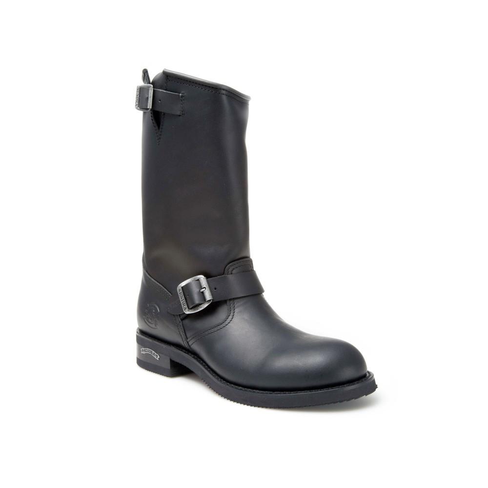 Compra en Noel Western Boots estas Botas Sendra Biker para hombre de cuero negro con hebilla modelo 2944 con envíos gratis a la península 1356 -