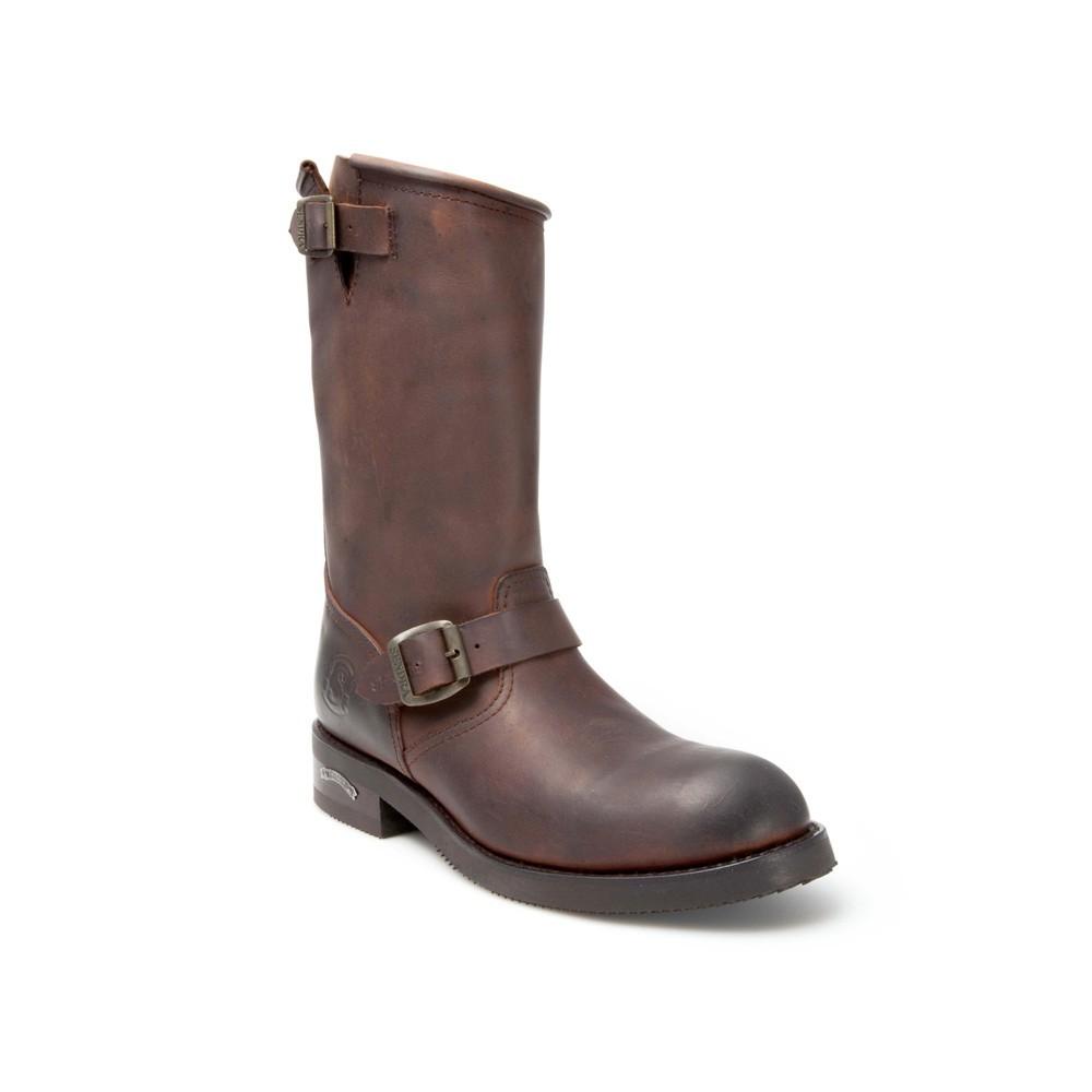 Compra en Noel Western Boots estas Botas Sendra Biker para hombre de cuero marrón con hebilla modelo 2944 con envíos gratis a la península 1357 -