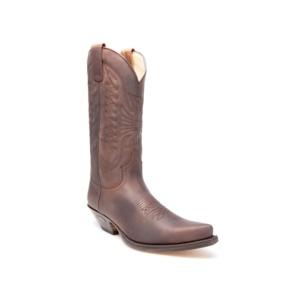 Compra en Noel Western Boots estas Botas Sendra Western para hombre de cuero marrón con pespuntes modelo 2073 con envíos gratis a la península 1492