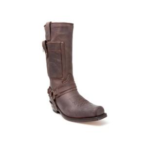 Compra en Noel Western Boots estas Botas Sendra Biker para hombre de cuero marrón con arnés y bolsillo modelo 3604 con envíos gratis a la península 17527