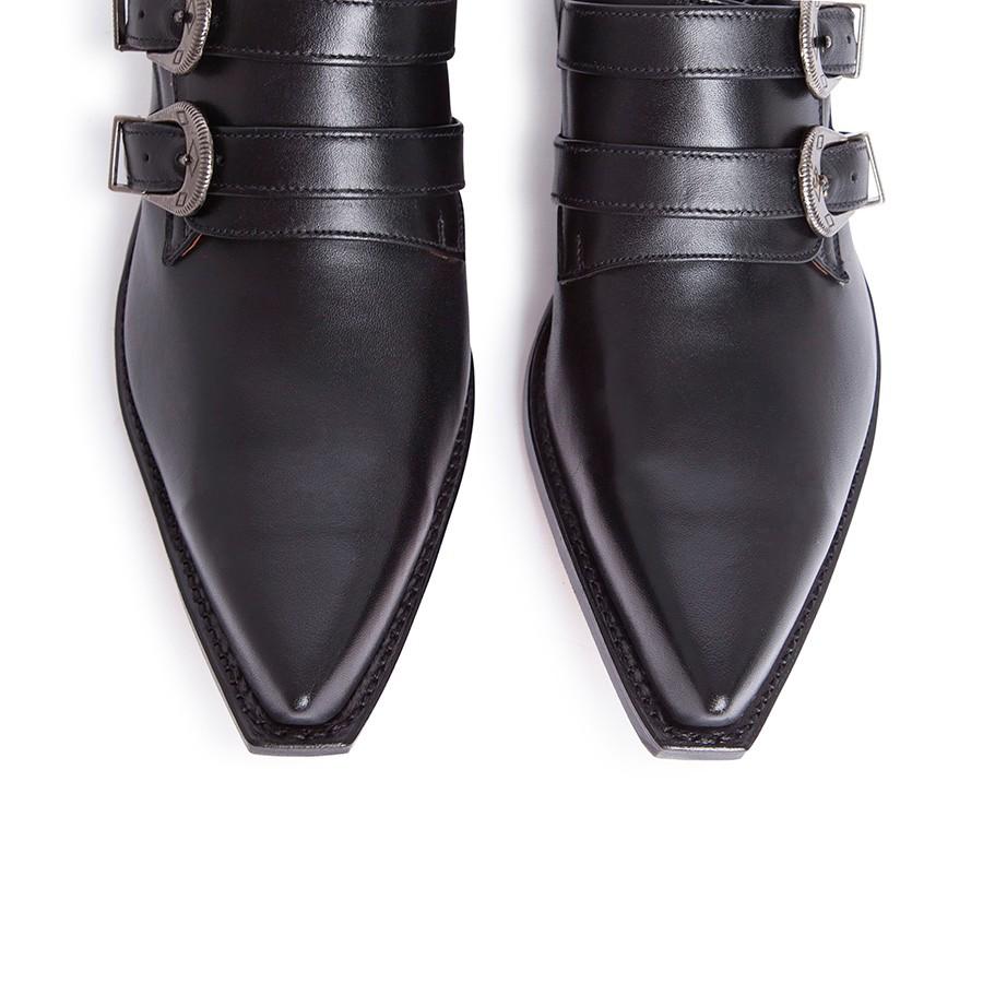 Con 6357 Hombre Zapatos Cuervo Hebillas Para Sendra 2 Western bYf6y7g