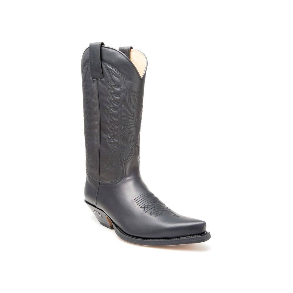 Compra en Noel Western Boots estas Botas Sendra Western para hombre de cuero negro con pespuntes modelo 2073 con envíos gratis a la península 2010 -