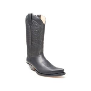 Compra en Noel Western Boots estas Botas Sendra Western para hombre de cuero negro con pespuntes modelo 2073 con envíos gratis a la península 2010