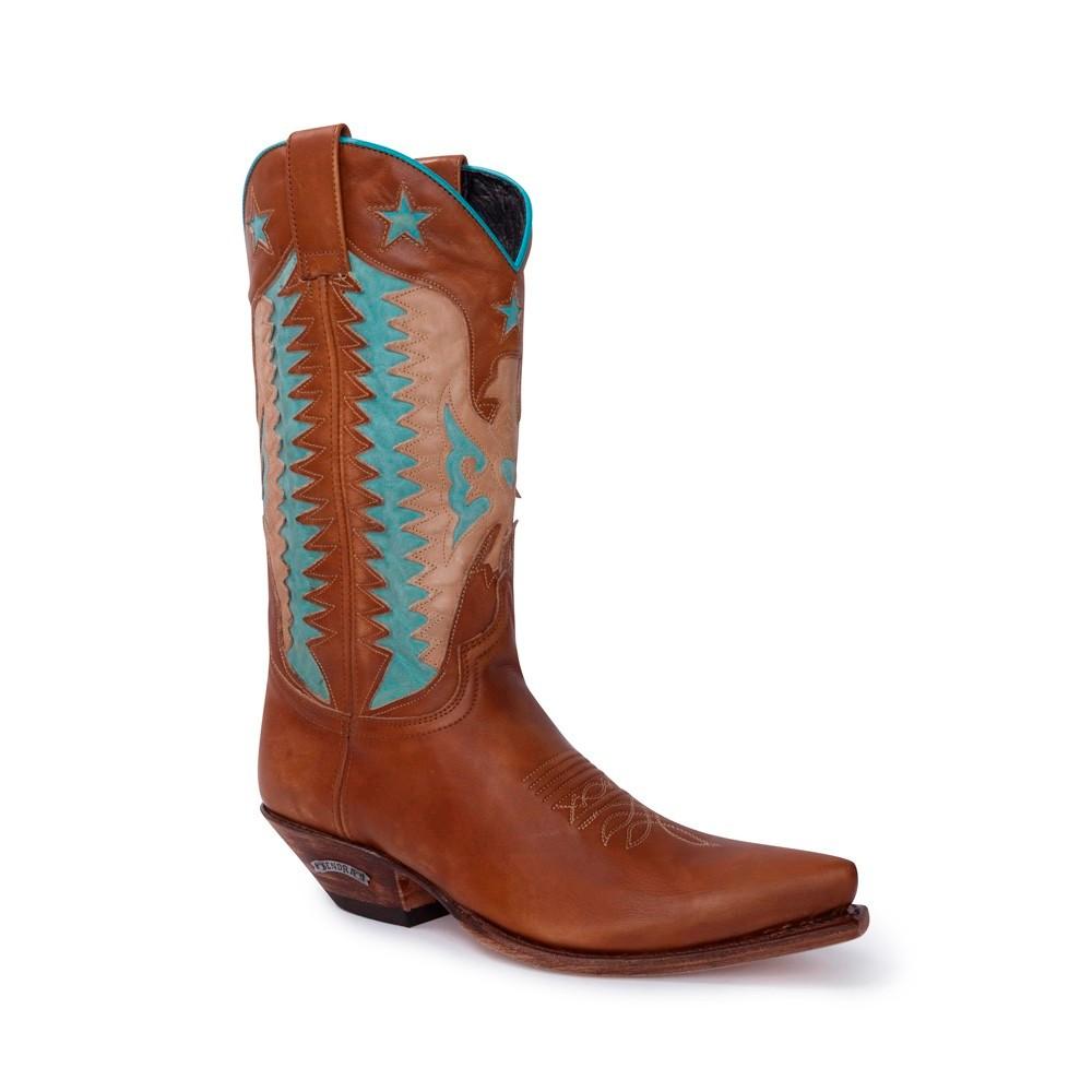 Compra en Noel Western Boots estas Botas Sendra 14144 Western para mujer en tonos marrones con envíos gratis a la península 20142 -