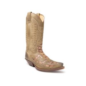 Compra en Noel Western Boots estas Botas Sendra Western para hombre de cuero marrón con grabados modelo 7382 con envíos gratis a la península 26121