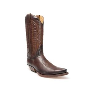 Compra en Noel Western Boots estas Botas Sendra Western para hombre de cuero marrón con pespuntes modelo 2073 con envíos gratis a la península 26933