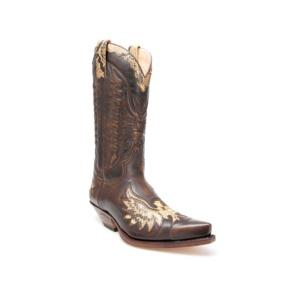 Compra en Noel Western Boots estas Botas Sendra Western para hombre de cuero marrón y piel de serpiente modelo 7106 con envíos gratis a la península 30195