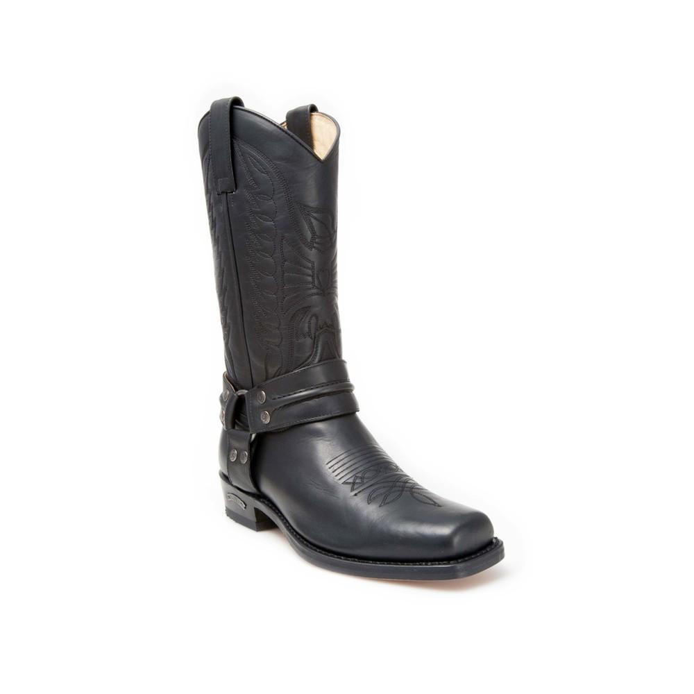 Compra en Noel Western Boots estas Botas Sendra Biker para hombre de cuero negro con arnés modelo 2621 con envíos gratis a la península 30227 -