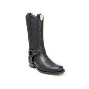 Compra en Noel Western Boots estas Botas Sendra Biker para hombre de cuero negro con arnés modelo 2621 con envíos gratis a la península 30227