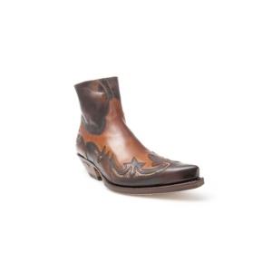 Compra en Noel Western Boots estos Botines Sendra Western para hombre de cuero marrón y serpiente con grabados modelo 7342 con envíos gratis a la península 30333