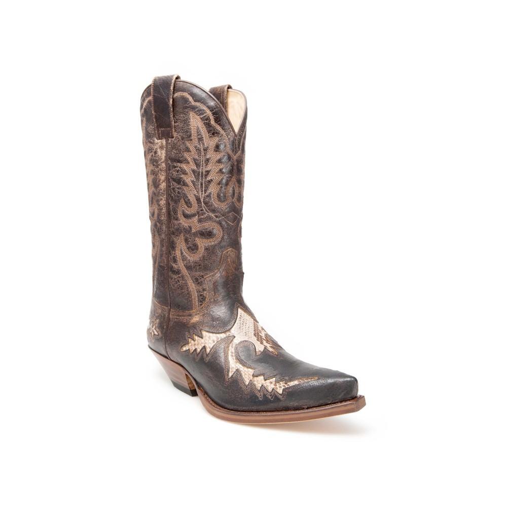 Compra en Noel Western Boots estas Botas Sendra Western para hombre de cuero color marrón y beige del modelo 6821 con envíos gratis a la península clave 31091 -