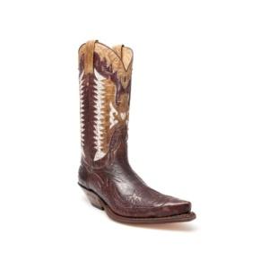 Compra en Noel Western Boots estas Botas Sendra Western para hombre de cuero color marrón y blanco del modelo 3840 con envíos gratis a la península clave 32533