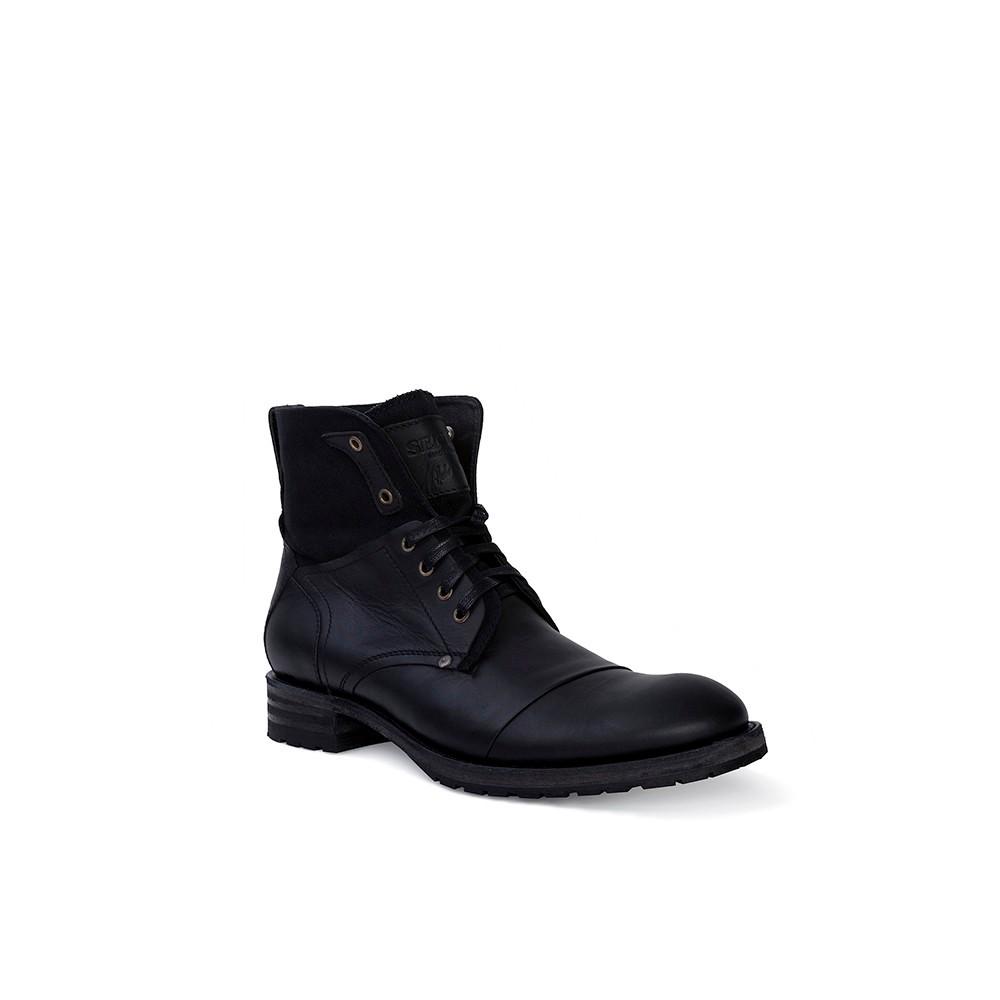 Compra en Noel Western Boots estos Botines Sendra Biker para hombre de cuero negro del modelo 9801 con envíos gratis a la península clave 36389 -