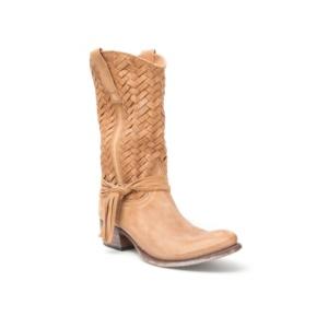 Compra en Noel Western Boots estas Botas Sendra moda para mujer de cuero beige con flecos del modelo 9627 con envíos gratis a la península clave 36391