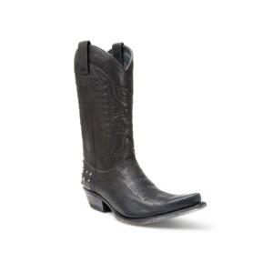Compra en Noel Western Boots estas Botas Sendra Western para mujer de cuero negro del modelo 9843 con envíos gratis a la península clave 37578