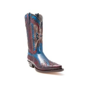Compra en Noel Western Boots estas Botas Sendra Western para hombre de cuero granate y azul del modelo 3840 con envíos gratis a la península clave 38283