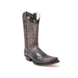 Compra en Noel Western Boots estas Botas Sendra Western para hombre de cuero antracita con águila modelo 8997 con envíos gratis a la península 4051