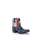 Compra en Noel Western Boots estos Botines Sendra Western para mujer de cuero color azul, rojo y blanco bandera USA america del modelo 10709 con envíos gratis a la península clave 41273 - __[GALLERYITEM]__