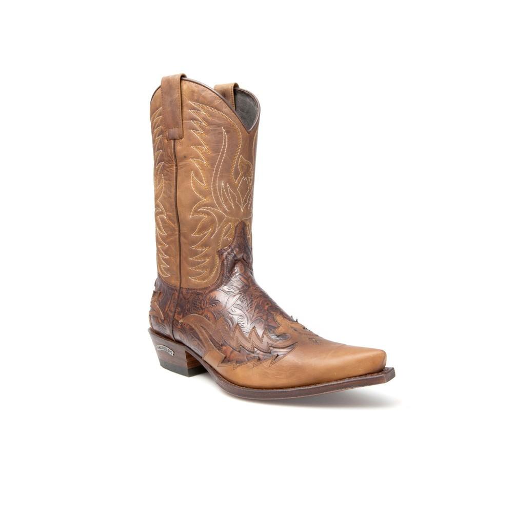 Compra en Noel Western Boots estas Botas Sendra Western para hombre de cuero marrón del modelo 11645 con envíos gratis a la península clave 44374 -