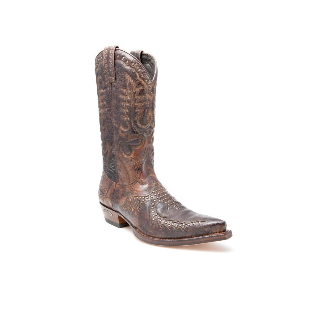 Compra en Noel Western Boots estas Botas Sendra Western para hombre de cuero marrón del modelo 11839 con envíos gratis a la península clave 44375 -