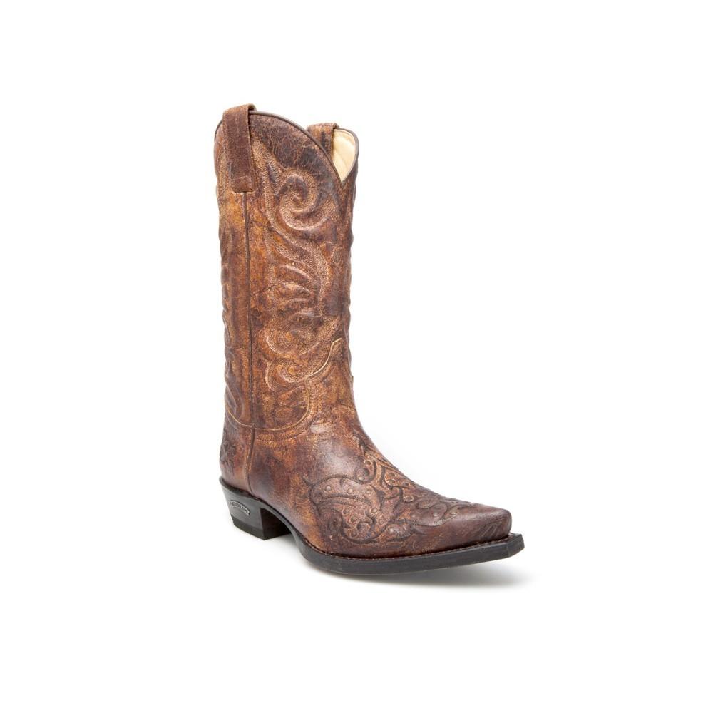 Compra en Noel Western Boots estas Botas Sendra Western para hombre de cuero marrón del modelo 11473 con envíos gratis a la península clave 44377 -