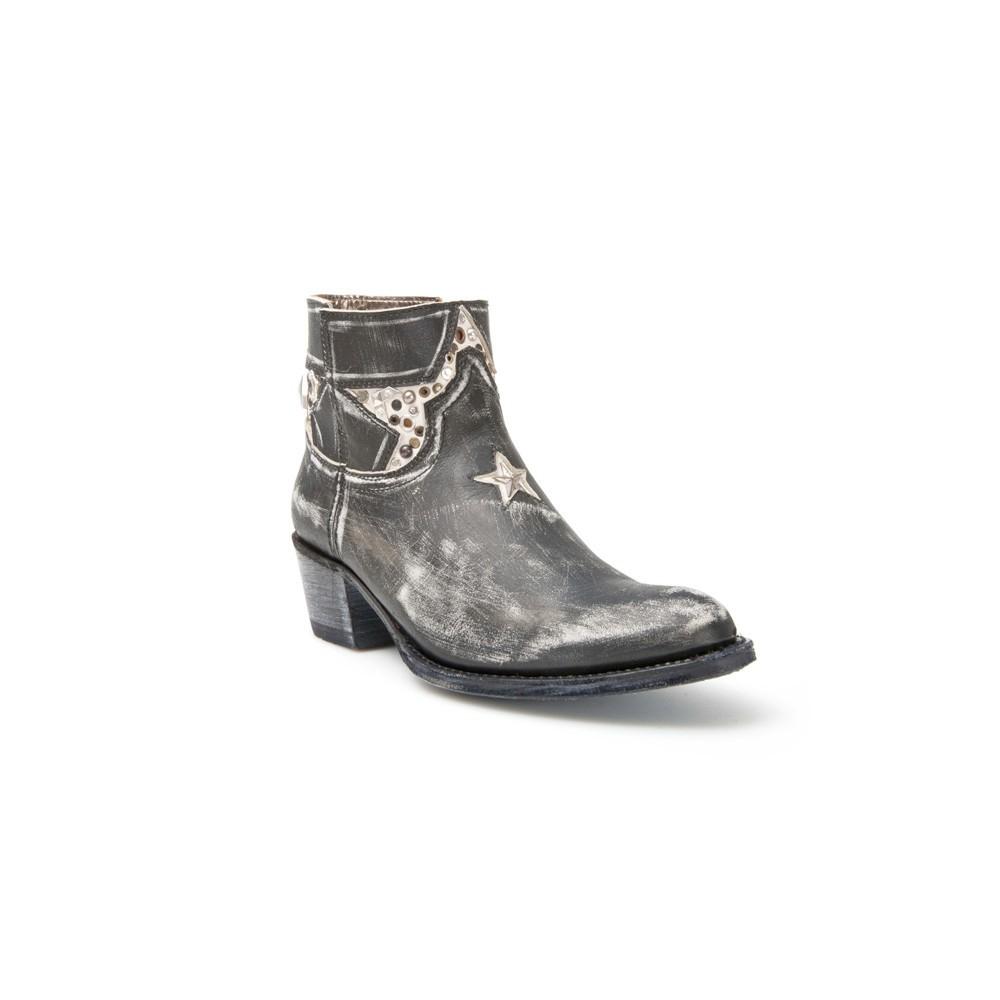 Compra en Noel Western Boots estos Botines Sendra moda para mujer de cuero negro y blanco del modelo 11809 con envíos gratis a la península clave 45293 -