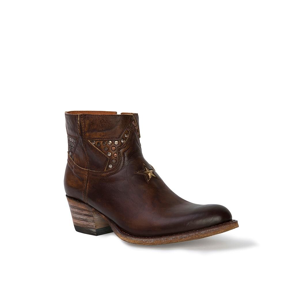 Compra en Noel Western Boots estos Botines Sendra moda para mujer de cuero camel del modelo 11809 con envíos gratis a la península clave 45294 -