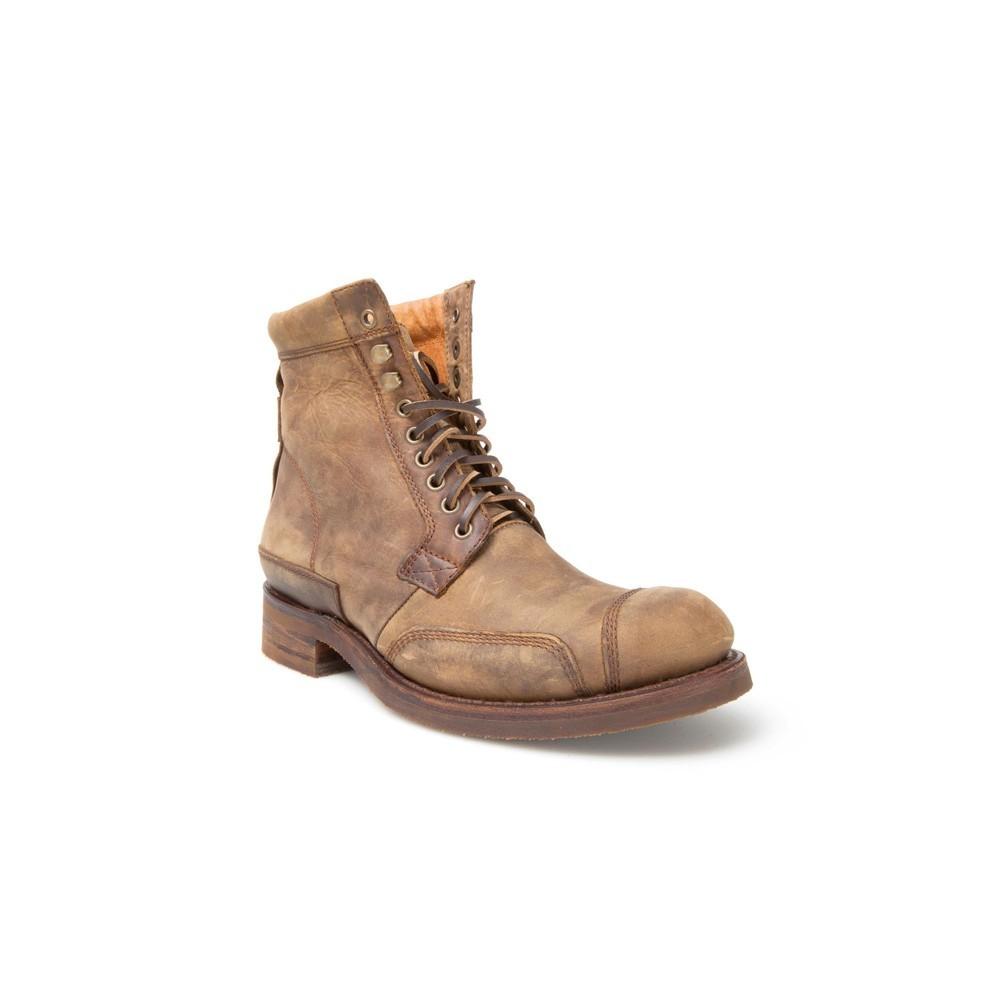 3b44c05fa1995 Compra en Noel Western Boots estos Botines Sendra moda cordones para hombre  de cuero color camel