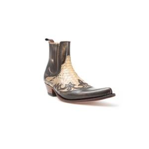 Compra en Noel Western Boots unos Botines Sendra Western para hombre de cuero y pitón color tierra modelo 9396 con envíos gratis a la península clave 45662