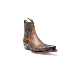 Compra en Noel Western Boots estos Botines Sendra Western para hombre de cuero camel y negro modelo 4660 con envíos gratis a península clave 45664