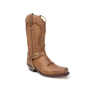 Compra en Noel Western Boots estas Botas Sendra Biker para Hombre de Cuero color Camel con Arnés con hebilla del modelo 3434 con envíos gratis a península clave 45665