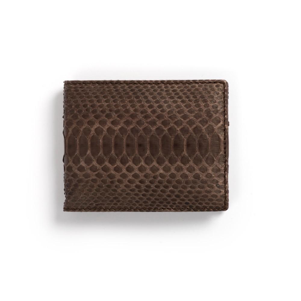 Compra en Noel Western Boots esta billetera de piel de serpiente marrón modelo 769 con envíos gratis a la península clave 45789 - __[GALLERYITEM]__