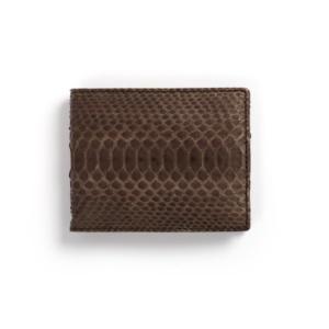 Compra en Noel Western Boots esta billetera de piel de serpiente marrón modelo 769 con envíos gratis a la península clave 45789