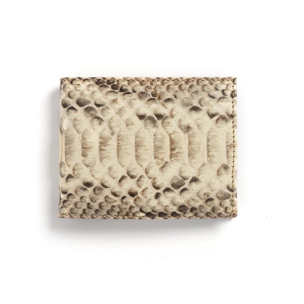 Compra en Noel Western Boots esta billetera de piel de serpiente beige modelo 769 con envíos gratis a la península clave 45791 - __[GALLERYITEM]__