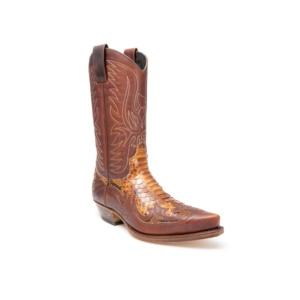 Compra en Noel Western Boots estas Botas Sendra Western para Hombre en cuero y piel de pitón en color camel modelo 3241 con envíos gratis a península clave 45946