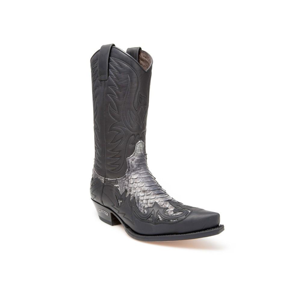 Compra en Noel Western Boots estas Botas Sendra Western para Hombre en cuero y piel de pitón en color negro modelo 3241 con envíos gratis a península clave 45947 -