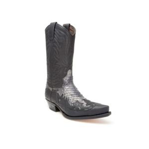 Compra en Noel Western Boots estas Botas Sendra Western para Hombre en cuero y piel de pitón en color negro modelo 3241 con envíos gratis a península clave 45947