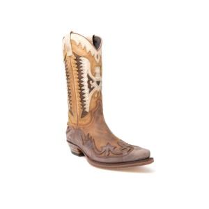 Compra en Noel Western Boots estas Botas Sendra Western para Hombre en cuero marrón y camel modelo 3840 con envíos gratis a península clave 45948