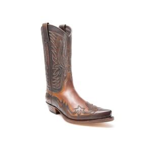 Compra en Noel Western Boots estas Botas Sendra Western para Hombre en cuero marrón y camel modelo 3241 con envíos gratis a península clave 45954