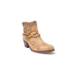 Compra en Noel Western Boots estos Botines Sendra moda para Mujer en ante color marrón con grabado y troquelado y la caña cortada modelo 12479 con envíos gratis a península clave 46922