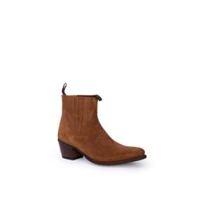 Compra en Noel Western Boots estos Botines Sendra moda para Mujer en ante color camel modelo 12380 con envíos gratis a península clave 47028