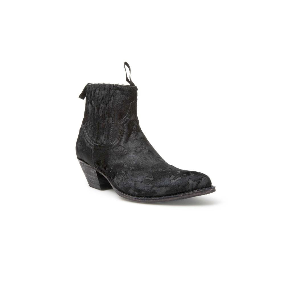 Compra en Noel Western Boots estos Botines Sendra moda para Mujer en pelo color negro modelo 12380 con envíos gratis a península clave 47029 -