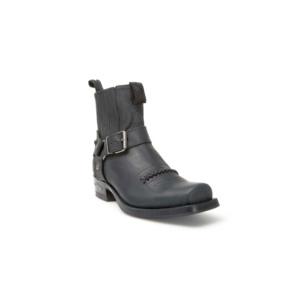 Compra en Noel Western Boots estos Botines Sendra Biker para mujer de cuero negro con arnés fijo modelo 6445 con envíos gratis a la península clave 47033