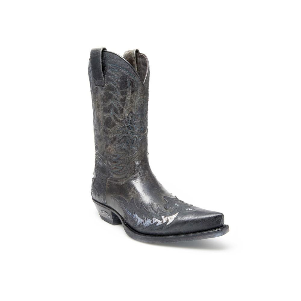 Compra en Noel Western Boots estas Botas Sendra Western para hombre de cuero negro modelo 12268 con envíos gratis a la península clave 47292 -