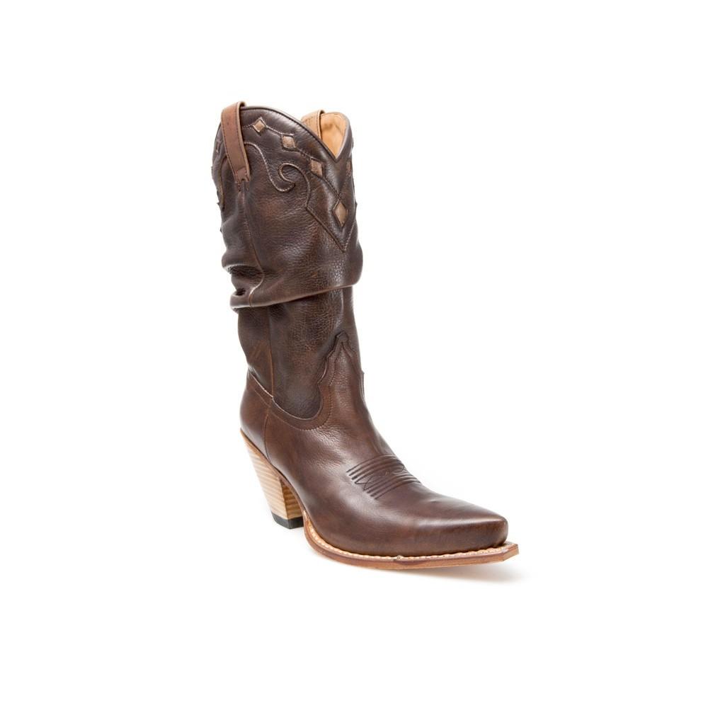e4cb19b02 Compra en Noel Western Boots estas Botas Sendra Moda para mujer de cuero  marrón modelo 6561