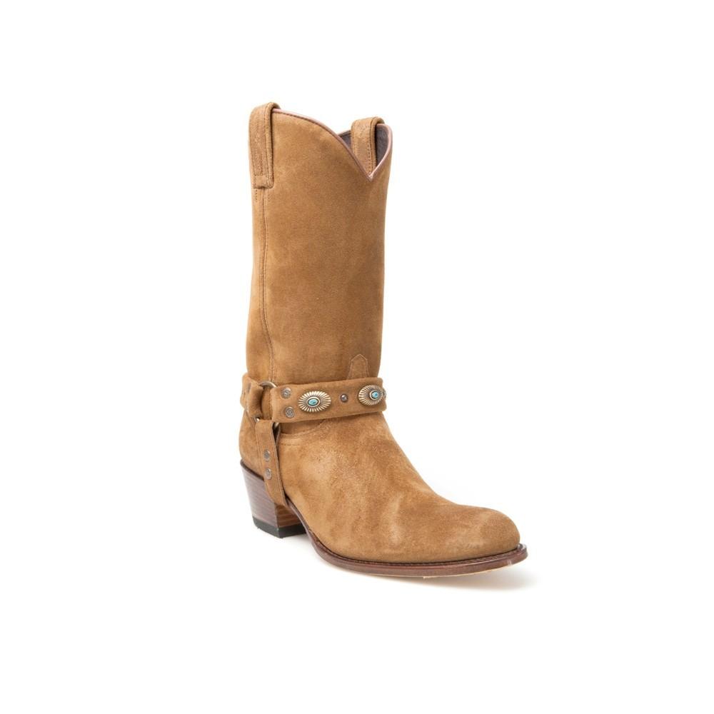 Compra en Noel Western Boots estas Botas Sendra moda para mujer de ante color tierra con arnés modelo 11458 con envíos gratis a la península clave 50367 -
