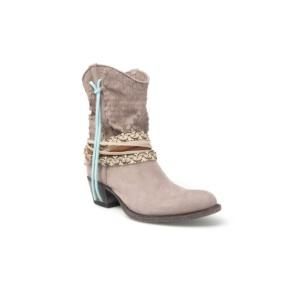 Compra en Noel Western Boots estos Botines Sendra moda para mujer de piel gris con arnés modelo 12502 con envíos gratis a la península clave 50368