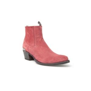 Compra en Noel Western Boots estos Botines Sendra moda de mujer de ante rojo modelo 12380 con envíos gratis a la península clave 50370